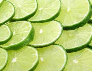 Lemon green slices background