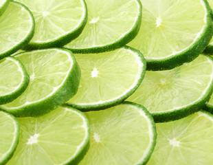 Lemon green slices background