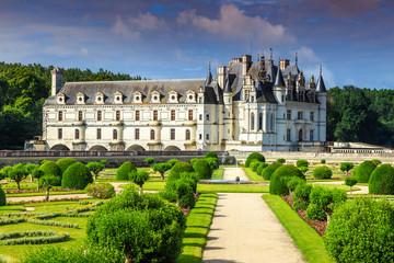 Famous castle of Chenonceau,Loire Valley,France,Europe