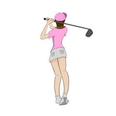 女子ゴルファー後ろ