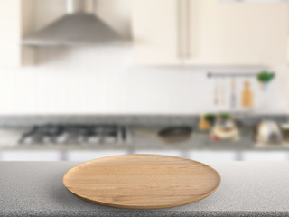 wooden plate in kitchen