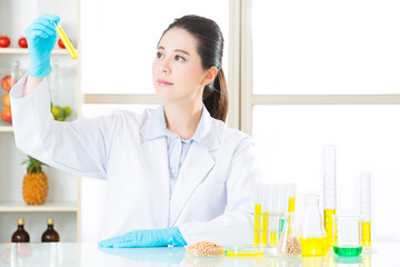 Asian female scientist try to breakthrough genetic modification