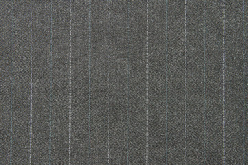 Background gray wool suiting fabric with stripes
