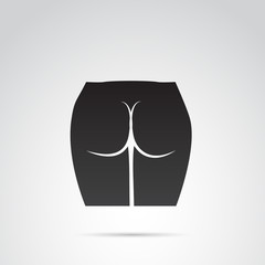 Ass vector icon on white background.