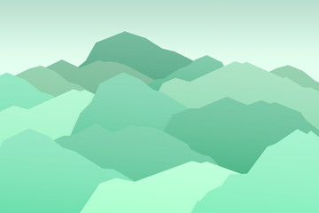 Green mountain nature landscape background