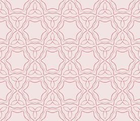 illustration in pink tones with the image of abstract flowers