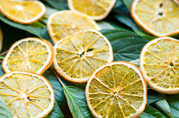 Dried orange. Natural organic vegetarian food. Healthy snack.