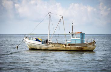 A small fishing boat in Baltic sea near Saaremaa island, Estonia, Europe