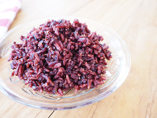 cooked riceberry and quinoa