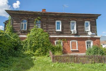 Old two-storey house in Kolomna Kremlin, Russia