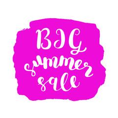 Big summer sale. Brush lettering.