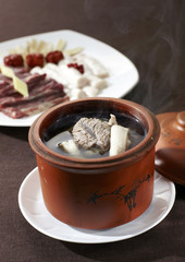 Chinese Cuisine food,pork soup in pot