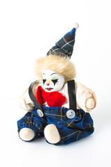 Joker doll, isolated on white background
