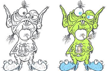 wrinkled alien