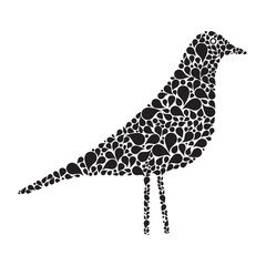 Abstract folklore bird, silhouette. Vector illustration EPS 10