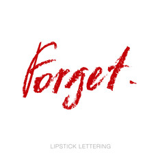 lipstick style lettering: forget hand drawn red words. charcoal