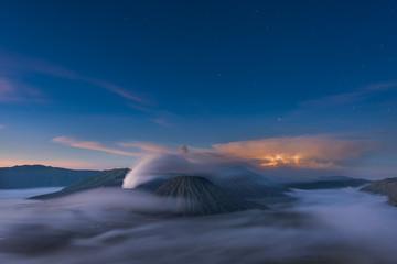 Mt Bromo volcano in the morning
