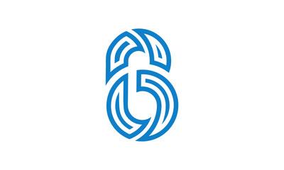 Letter six number logo