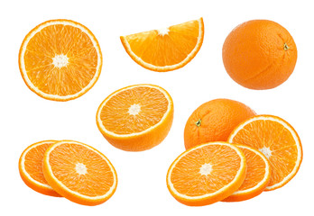 Orange collection isolated on white