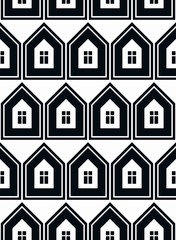 Simple houses vector continuous background. Property developer c