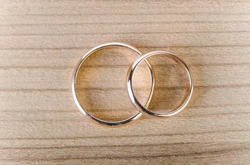Wedding rings in romantic concept