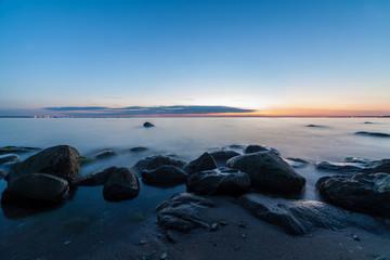 Calm Baltic sea seascape with rocks