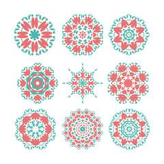 geometrical flower mehendi mandala