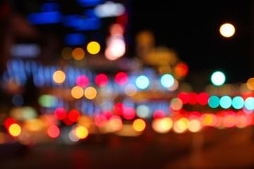 Night city blur - Las Vegas