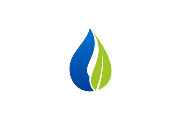 water drop leaf logo