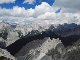 The Karwendel mountains between Austria and Germany