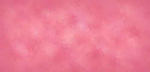 Vector Illustration - Cute pink polygonal mosaic banner, background