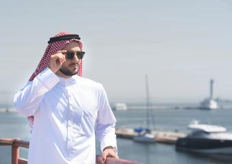 Arabian man in the port of Odessa