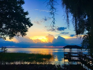 Lake Eustis, Florida at sunset