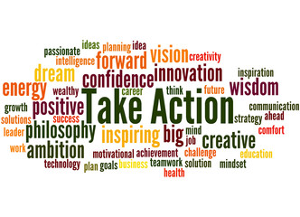 Take Action, word cloud 5