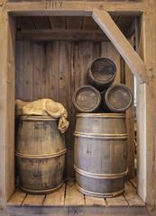 Wood cask barrels