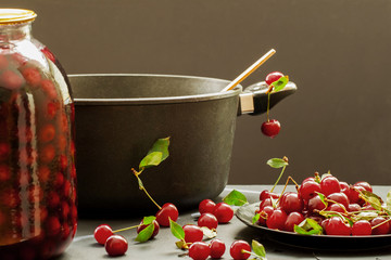 Fresh cherry like the ingredients for cooking