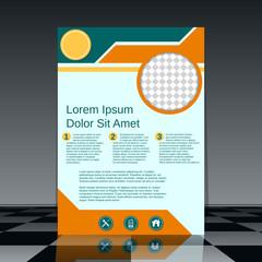 Professional flyer vector design template