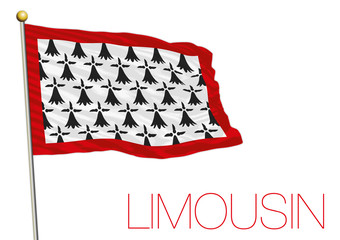 Limousin regional flag, France
