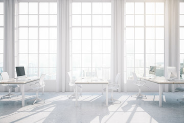 Light coworking office interior