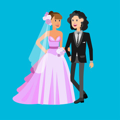 Aluminium Prints Knights Nontraditional family. Happy cute wedding gay and lesbian