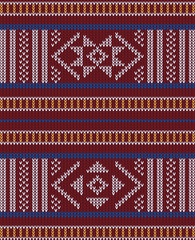 Abstract, Design Vintage Knitted Pattern. Seamless Background