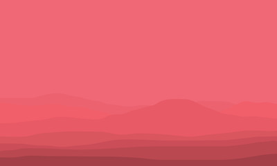 Silhouette of hills and mountain