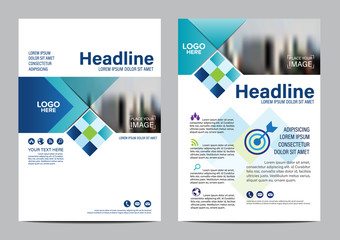 Brochure Layout design template. Annual Report Flyer Leaflet cover Presentation Modern background. illustration vector in A4 size