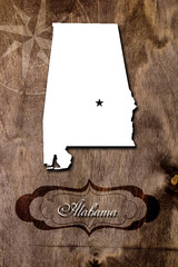 Vintage poster for the state of Alabama