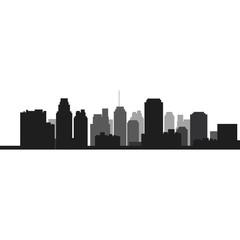 flat design city skyline icon vector illustration