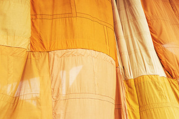 Yellow Buddhist monk robe flutter by wind