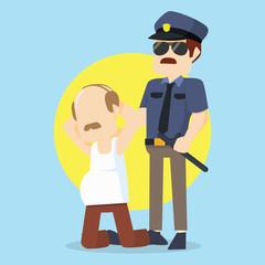 officer caught criminal