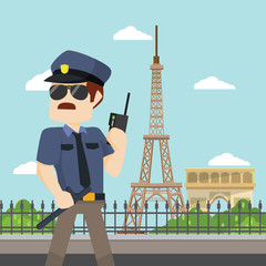 officer guarding paris