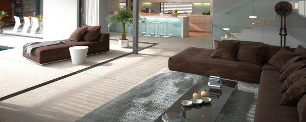 Modern House Interior (hir-res panoramic)