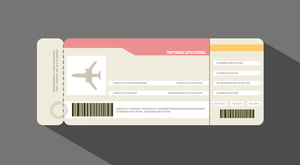 Vector illustration airplane ticket. Travel concept.